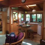 Bamboo Guest Cottage kitchen