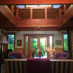 Bamboo Guest Cottage sitting room and front entry