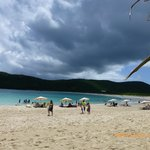 Flamenco Beach, five minutes rain