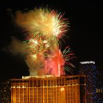 Fireworks on the Las Vegas strip - New Years Eve