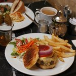 Falafel and camel burger