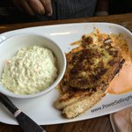 Fish and coleslaw