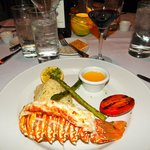 Lobster tail was very good