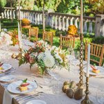 Outdoor autumn wedding at the Villa