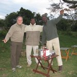 Sun downer with Duma and John out in the bush