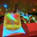 Drink at City Space bar, 70th floor