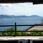 Unobstructed view of north east Bali from room/bed