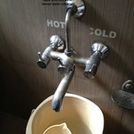 taps, washbasins and buckets never cleaned