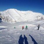 Ski slopes view