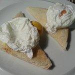 Breakfast: Poached eggs (negative...)