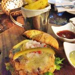 Five 27's favourite: The Organic Smoked Pork Burger with Rambutan Salsa