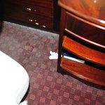 Staub und Kleenex auf dem Teppich