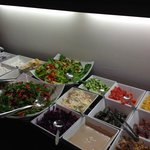 Salad bar at breakfast