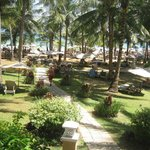 The private beach of the hotel