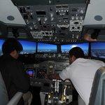 On flight to Zurich - cruising