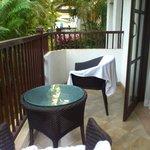 The suite balcony