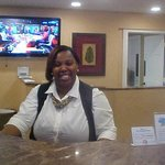 The Smiling face of Miss Shwondar Fieds Front Desk