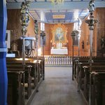 Interior of the church in the lower village