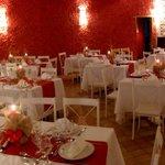 Restaurante preparado para Ceia de Natal