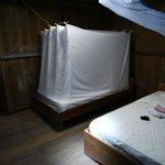 Zimmer mit Moskitonetzen...