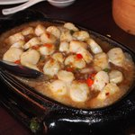 sizzling scallop in XO sauce