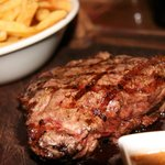 Sirloin Steak with Triple Fried Chips