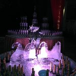 Sandals New Years 2014 Ice Sculpture and Champagne
