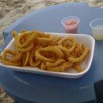 Serviço do quiosque do hotel na praia