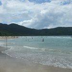 uma parte da praia