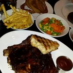 Ribs and chicken side orders lovely