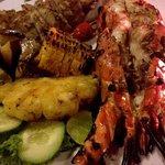 Calamari and lobster