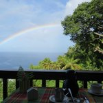 Daily rainbow from dining area