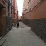 Riad location down alleyways