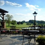 Enjoy views of the golf course from our expansive patio.