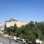 Вид на парк и здание правительства