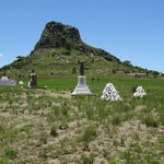 Isandhlwana with burial cairns
