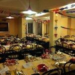 Il ristorante pronto ad accogliere un gran cenone di capodanno