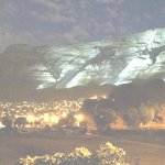 Table Mountain under Floodlights- taken from our Office.