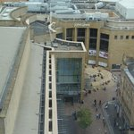 View of Buchanan Galleries from the room window
