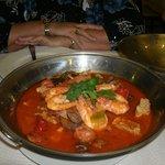 een zalige Cataplanja met zowel vis als vlees...