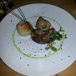 Solomillo de cerdo con mermelada y queso de Acehuche