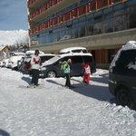 De retour du ski, accès aux casiers à ski