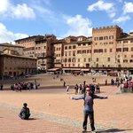 My husband, Neil, in Siena