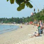 khlong khong beach at the late afternoon