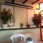 sala colazione in veranda, con trompe e schermo proiezioni