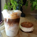 Iced Latte and Ice Cream Cookie Sandwich (summer only)