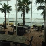 View of Outside Waterfront Patio Dining Area