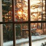 Sunset on Christmas Eve at Langdon Hall.