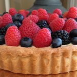 Fresh Berry and Pastry Cream Tart (summer only)