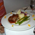 Filet with blue cheese
